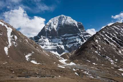 The perilous northern face of Kailash